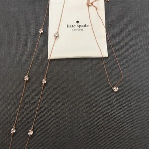 Kate Spade rose gold necklaces